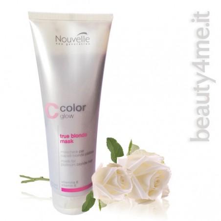 beauty4me nouvelle color glow true blond mask 250ml
